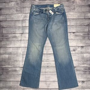 Loft Light Wash Distressed Original Boot Jeans